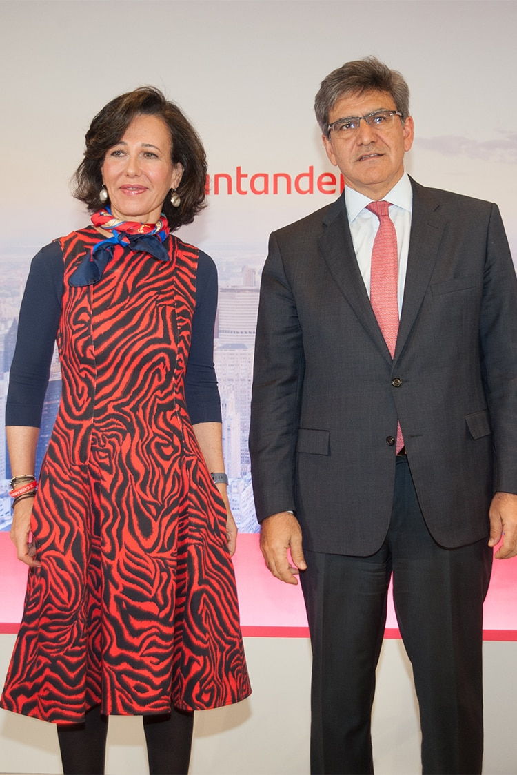 Santander's executive chairman, Ana Botín, and CEO, José Antonio Álvarez